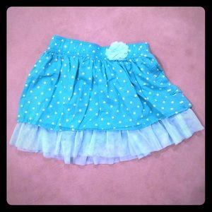 EUC Cute aqua girls skirt with tulle underlay!